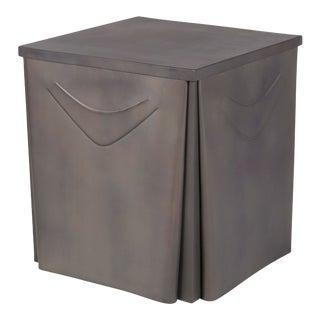 Metal Skirted Side Table For Sale
