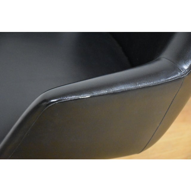 Steelcase Black & Chrome Lounge Chairs - A Pair - Image 7 of 9