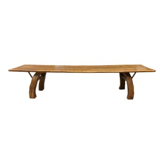 Mid 20th C American Harvest Table For Sale