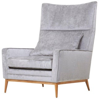 Paul McCobb 314 Lounge Chair in Chase Erwin Velvet for Directional For Sale
