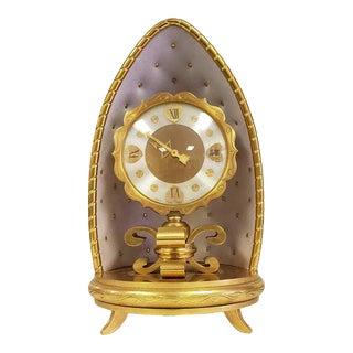 Vintage 1959 Gubelin Swiss Lucerne Gilt Mantle Clock With Documents & Provenance For Sale