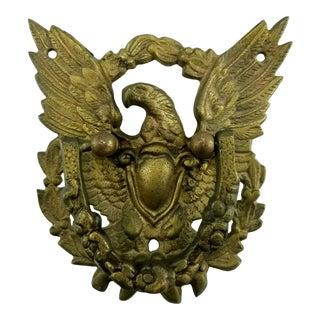 Vintage American Eagle Patriotic Brass Door Knocker For Sale