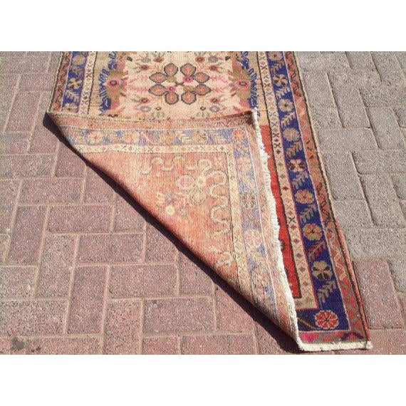 """Vintage Anatolian Rug - 3'1"""" x 6'6"""" For Sale In Raleigh - Image 6 of 6"""