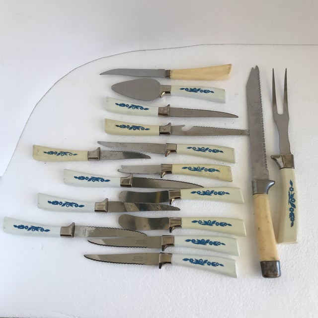 Vintage Sheffield English Cutlery - Set of 16 For Sale In Los Angeles - Image 6 of 8