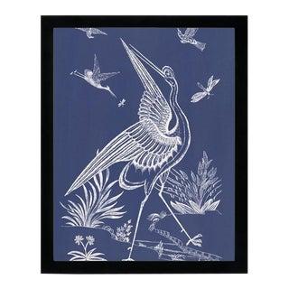 """Blue Crane"" Black Framed Wall Art"