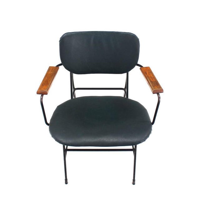 Mid-Century Danish Modern Bent Wire Frame Wood Arm Dining / Side Chair For Sale - Image 9 of 10