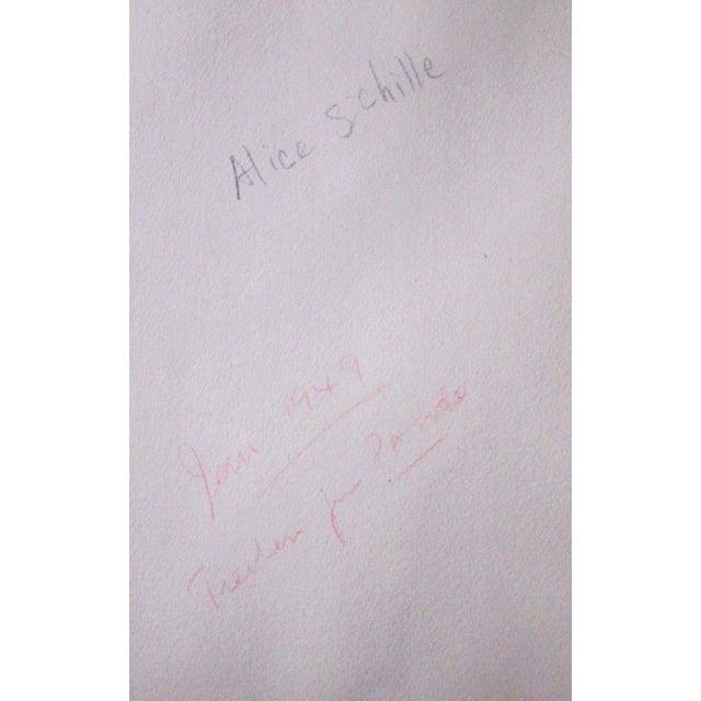 Alice Schille Signed Original Figural Watercolor-Listed American Artist For Sale In Cincinnati - Image 6 of 6