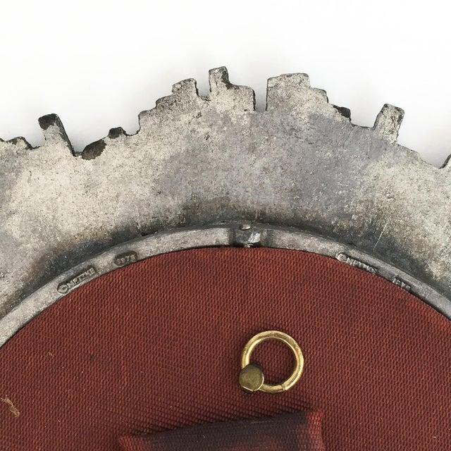 Silver Brutalist Starburst Pewter Frame or Mirror For Sale - Image 8 of 9