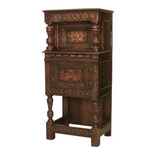 Italian Renaissance Oak Carved Cabinet For Sale