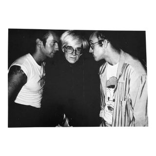Vintage Keith Haring & Andy Warhol Collectible Print For Sale