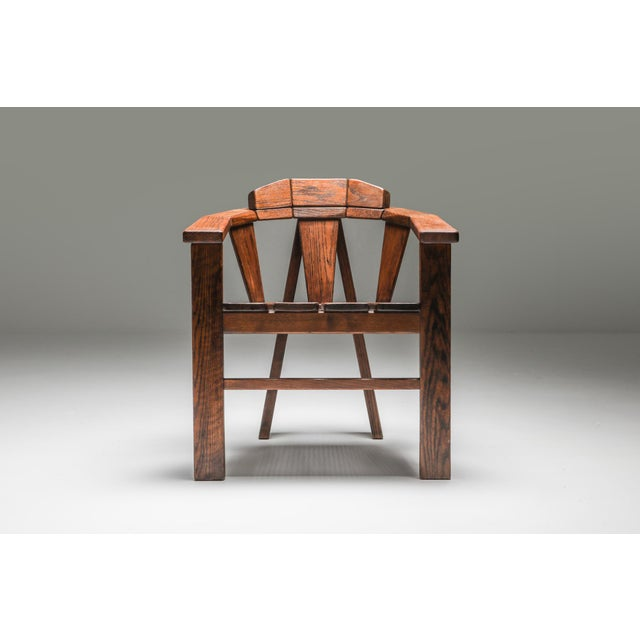 Walnut Craftsman Chair - 1960s For Sale - Image 4 of 13