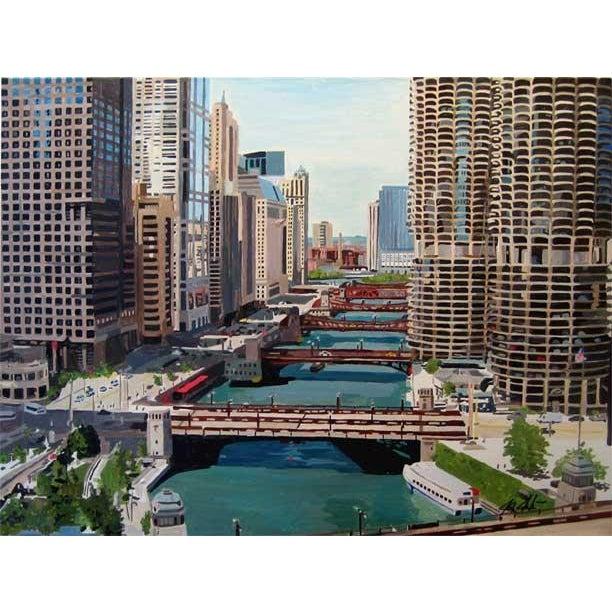 Chicago River Bridges, Giclee Print - Image 3 of 3
