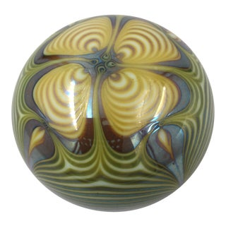 1970s Zephyr Studio Pulled Feather Paper Weight For Sale