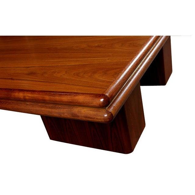 Vintage Rosewood Pedestal Base Dining Table - Image 4 of 4