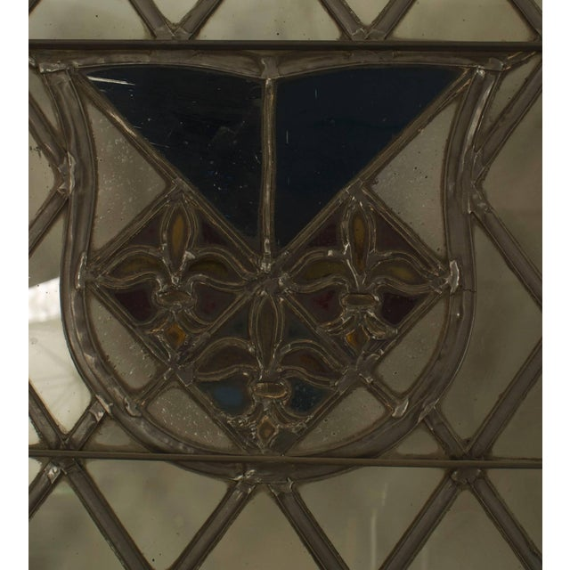 Mid-Century Modern Large Pair of 19th C. American Leaded Glass Golden Oak Doors For Sale - Image 3 of 9