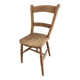Antique Hand Painted Chair For Sale