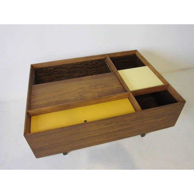 Wood Early Milo Baughman Coffee Table in Exotic Mindoro Wood for Drexel For Sale - Image 7 of 9