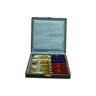 French Gold-Wash Art Deco Knives, 12 Pcs For Sale