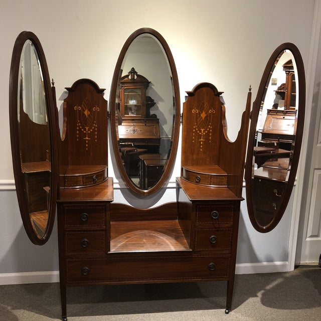 Antique Edwardian Inlay Vanity For Sale - Image 12 of 13