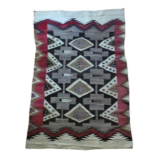 Authentic Navajo Patterned Rug - 4′4″ × 6′1″ For Sale