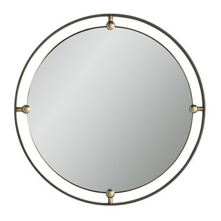 Arteriors Industrial Modern Round Janey Wall Mirror For Sale
