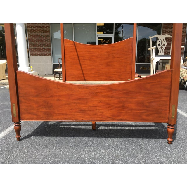 Ralph Lauren Ralph Lauren Queen Size Poster Bed With Canopy For Sale - Image 4 of 10