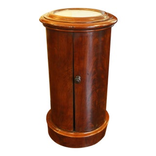 Mid 19th Century Marble Top Cylinder Commode For Sale
