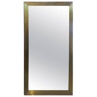 Rectangular Reeded Bronze Mirror For Sale