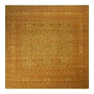 Pak Persian Matthew Lt. Green/Gold Hand-Knotted Rug -10'2 X 10'2