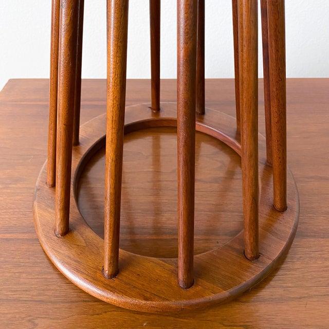 Mid Century Walnut Stool by Arthur Umanoff For Sale - Image 9 of 10