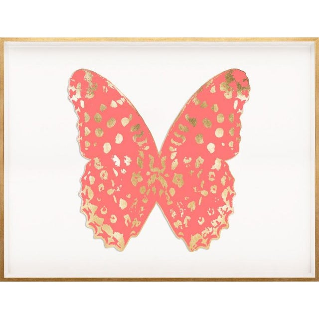 Contemporary Butterfly Royale, Pink 1 Framed Artwork For Sale - Image 3 of 3