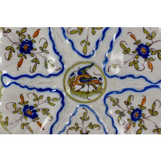 Martres-Tolosane Moustier Floral Oyster Plate – Left Facing Bird Preview