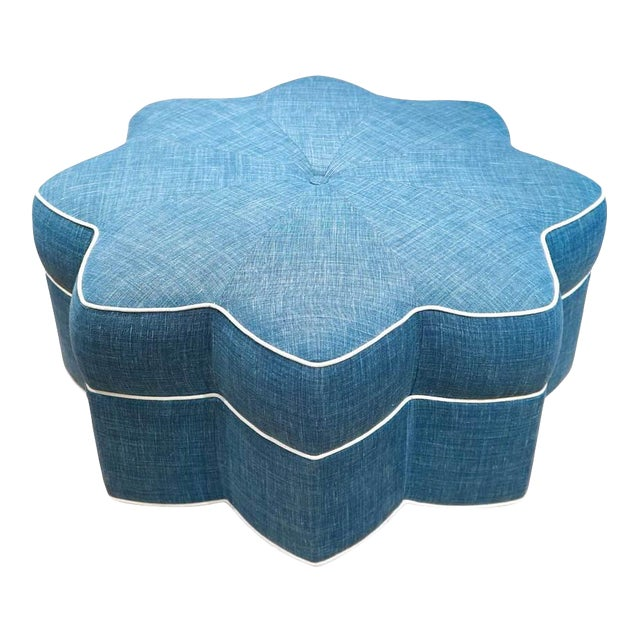 Stella Star Shaped Upholstered Ottoman For Sale