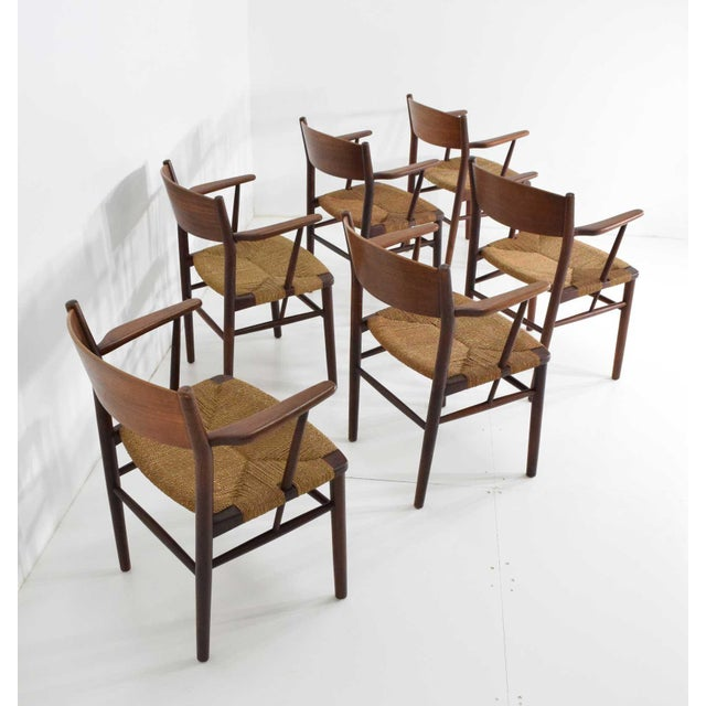 Børge Mogensen Dining Chairs by Søborg Møbelfabrik in Denmark - Set of 6 For Sale In Dallas - Image 6 of 9