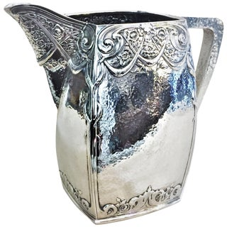 Dutch Arts & Crafts, Silver Plated Water Pitcher, 1900s For Sale