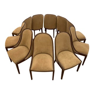 Plante Side Chair Poker Chairs by Dessin Fournir - Set of 10 For Sale