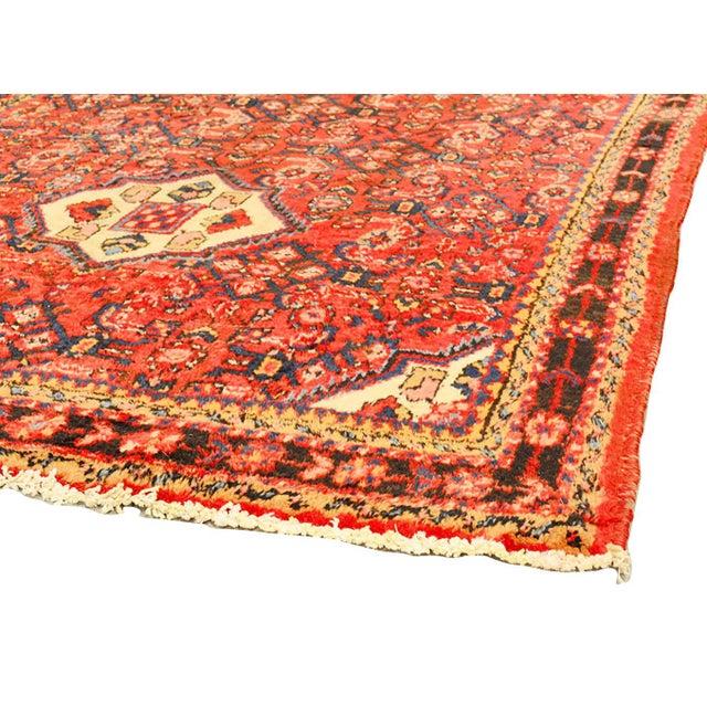 """Vintage Hamadan Wool Area Rug - 4'2"""" X 10'2"""" - Image 3 of 3"""