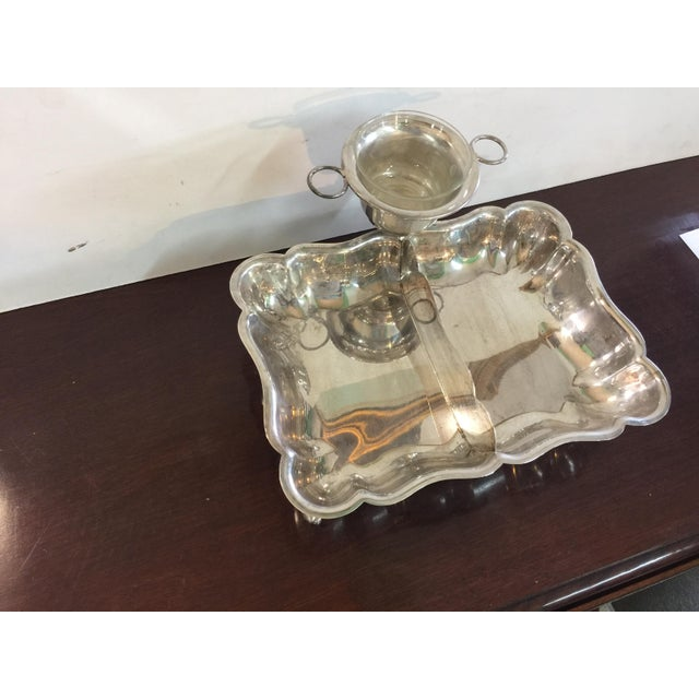 Caviar Serving dish Sheffield Plate - Image 2 of 7