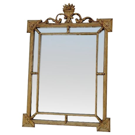 Hollywood Regency Antique Gold Ornate Large Mirror - Image 1 of 4