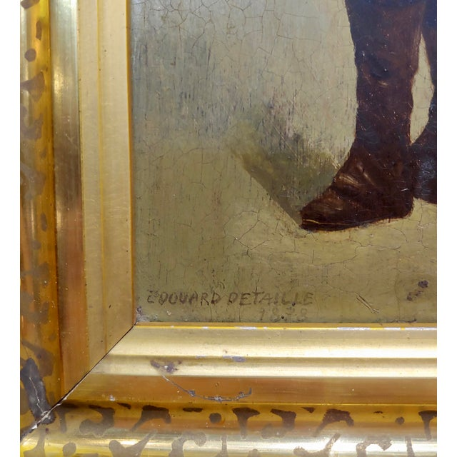 Edouard Jean Baptiste Detaille -Napoleonic Soldier -Oil Painting C.1870s For Sale In Los Angeles - Image 6 of 11