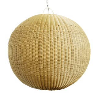 Faux Rattan Globe Lantern XL For Sale
