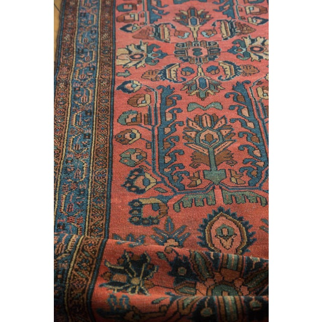 "Vintage Lilihan Rug Runner - 3'1"" x 17'9"" For Sale - Image 9 of 10"