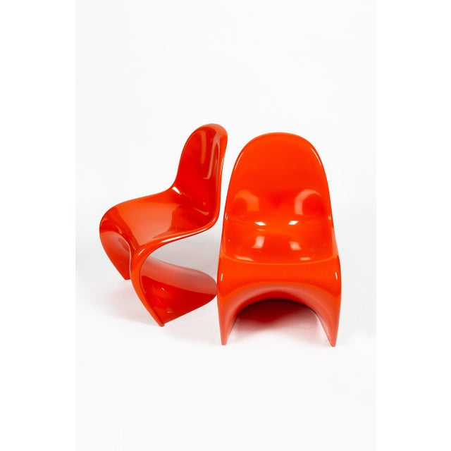 Orange Verner Panton S-Chair For Sale - Image 12 of 12