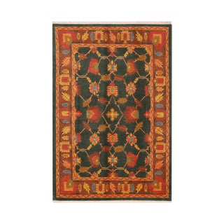 Contemporary Hand Woven Tibetan Rug - 5′9″ × 8′11″ For Sale