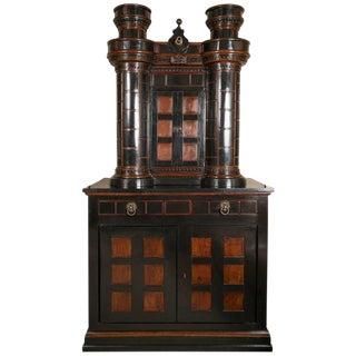 A Large Eccentric Castle Form Bar Cabinet For Sale