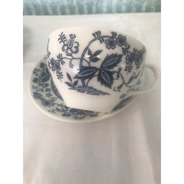 Blue Onion Hand Painted Dinnerware - Service for 3 For Sale In Sacramento - Image 6 of 10