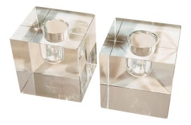 Image of Crystal Candle Holders
