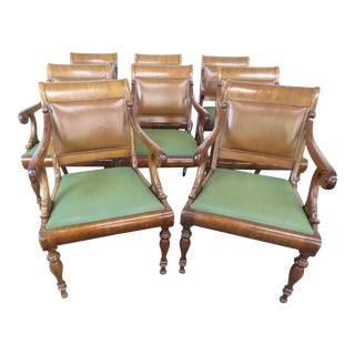 Smith & Watson Regency Style Armchairs - Set of 8 For Sale