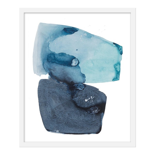 "Medium ""Watercolor Study Artic Ocean"" Print by Kate Roebuck, 20"" X 24"" For Sale"