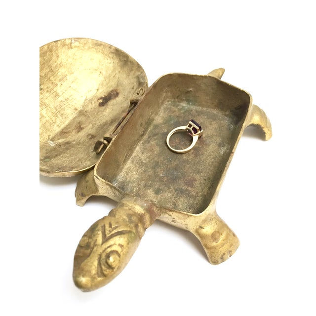 Antique Lidded Brass Turtle Trinket Box - Image 11 of 11
